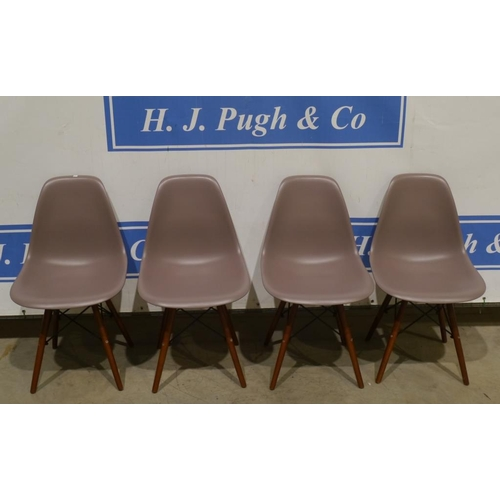 47 - Set of 4 Eames style DSW dining chairs...