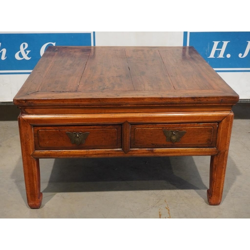 51 - Square coffee table with 3 drawers 33x33
