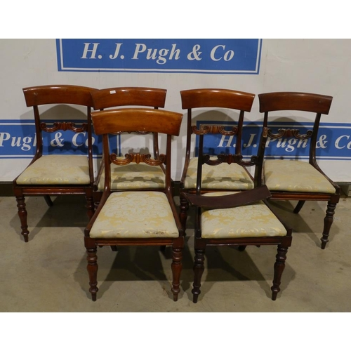 7 - Set of 6 upholstered dining chairs...