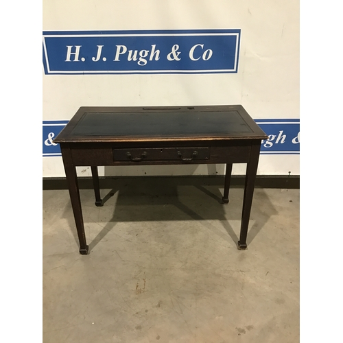 """21A - Utility single drawer desk with leather top. 42"""" wide..."""