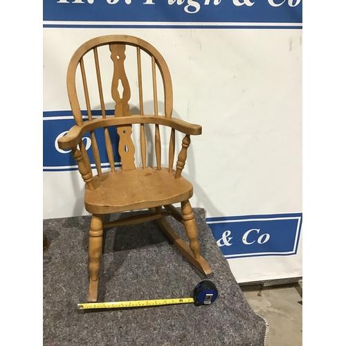 622 - Pine rocking chair