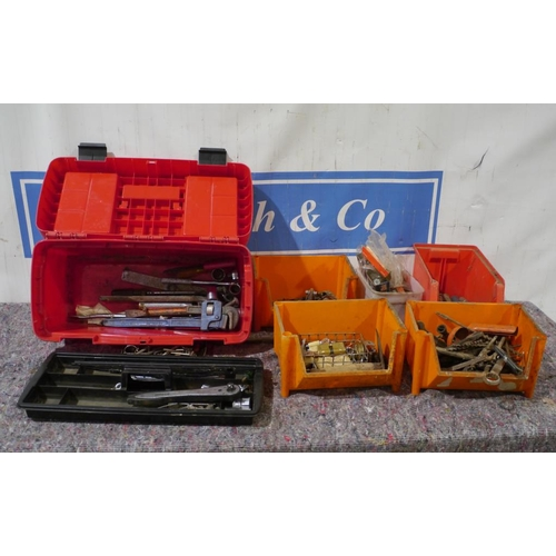 13 - Assorted spanners, drill bits, files and hex keys...