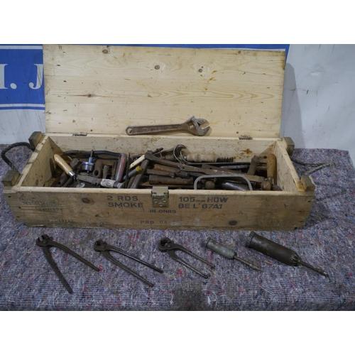 21 - Ammo box and tools...