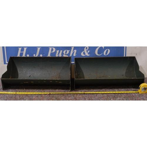 41 - Two steel troughs...