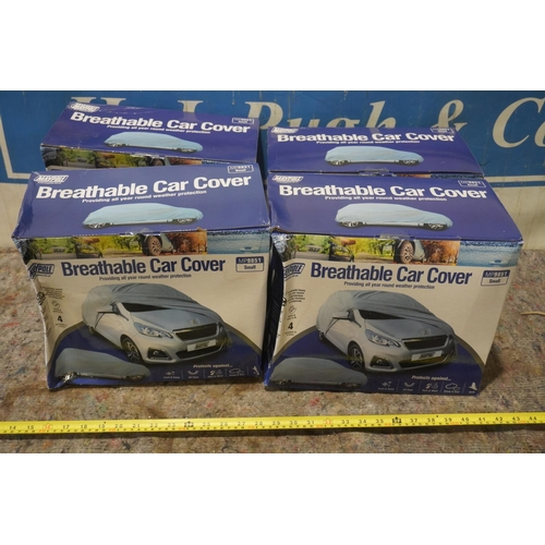 17 - 4 Breathable car covers +VAT