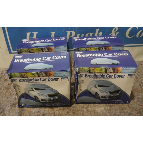 25 - 4 Breathable car covers +VAT