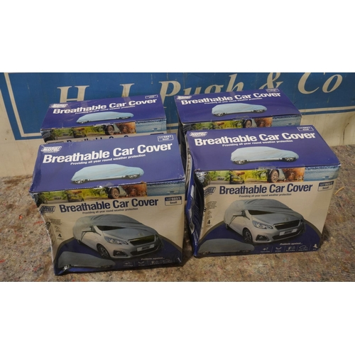 26 - 4 Breathable car covers +VAT