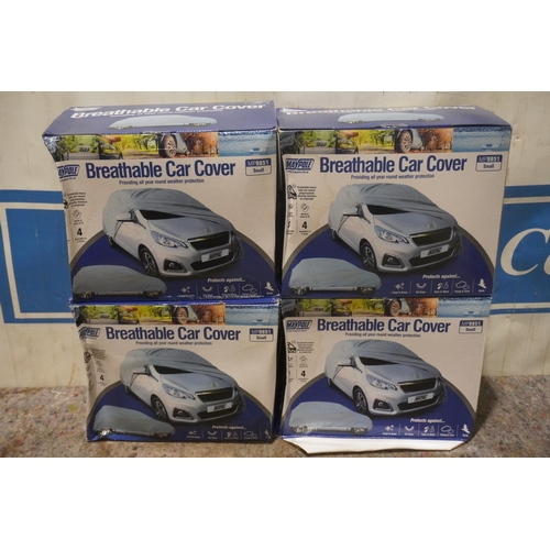 35 - 4 Breathable car covers +VAT