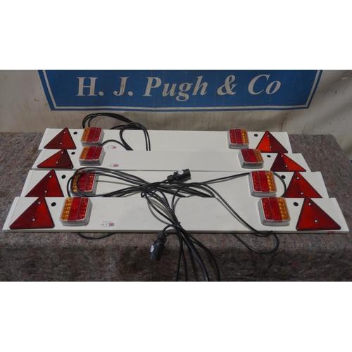4 - 4- 4ft LED lighting boards +VAT