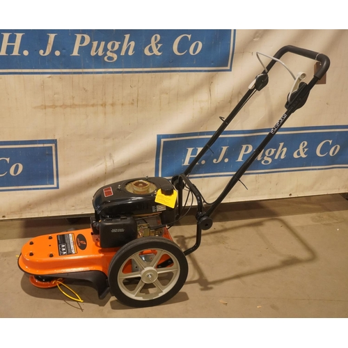 59 - Garden pride wheeled field trimmer. No recoil, height guide and deadbury flap. Ex demo +VAT