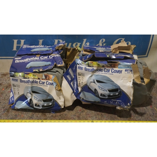 7 - 4 Breathable car covers +VAT