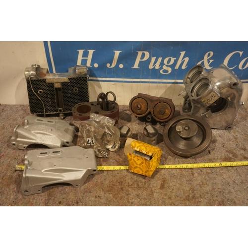13 - Scott barrels, crank cases, crank, pistons, rods, radiator and under trays