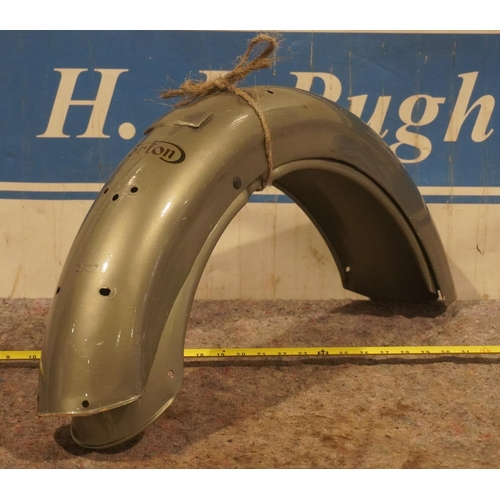 16 - Pair of Norton mudguards