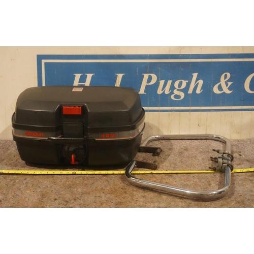 20 - Givi 45L top box, monokey c/w all fittings and Britax crash bar