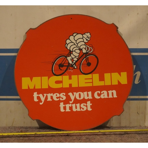 23 - Original card sign- Michelin 24