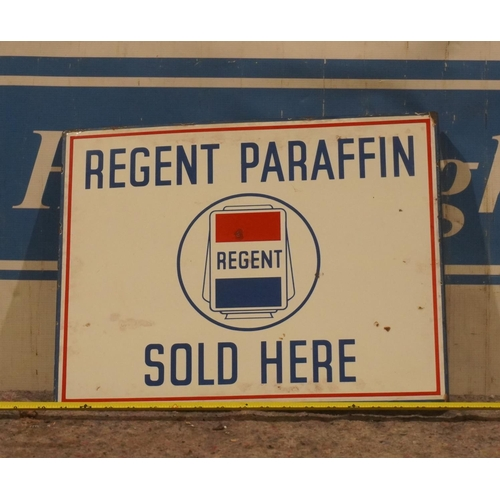 24 - Double sided enamel sign- Regents petrol