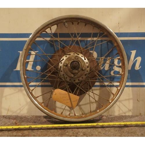 27 - Triumph T150 Trident front wheel c/w disc