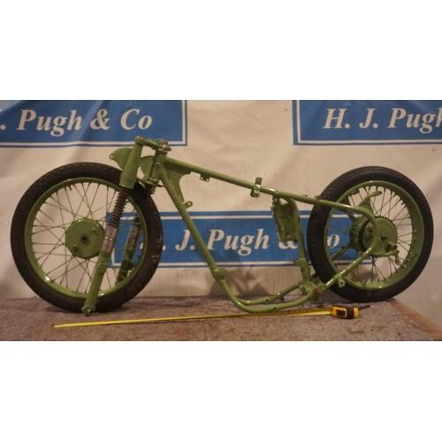 44 - BSA Bantam frame and wheels No.CD3 392