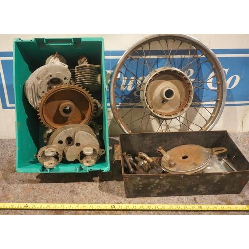 47 - Norton hubs, wheel and AMC engine parts