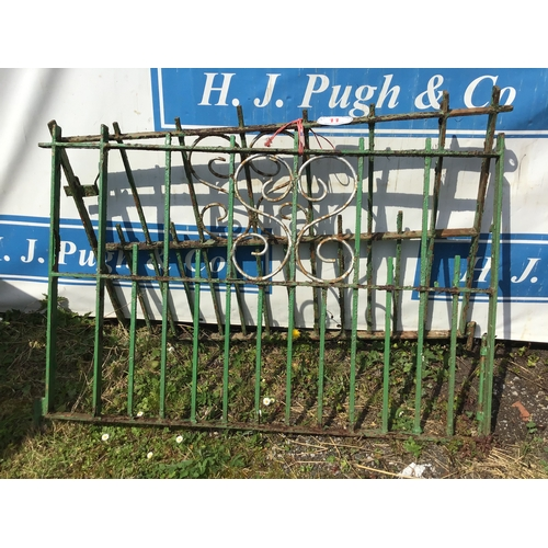 11 - Pair iron drive gates