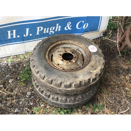 23 - 2 Wheels and tyres 7.50/16