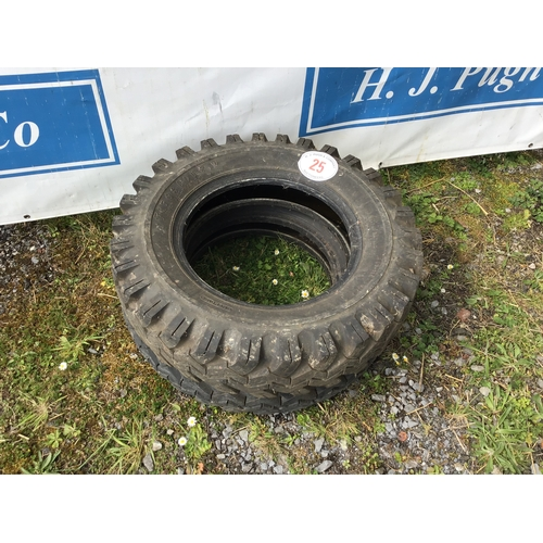 25 - 2 Tyres 600/16