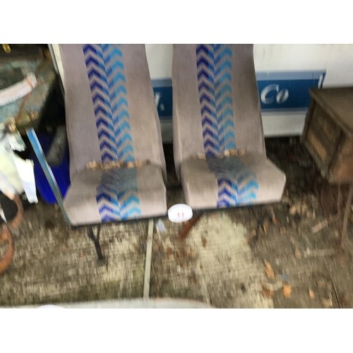 34 - Pair of bus seats