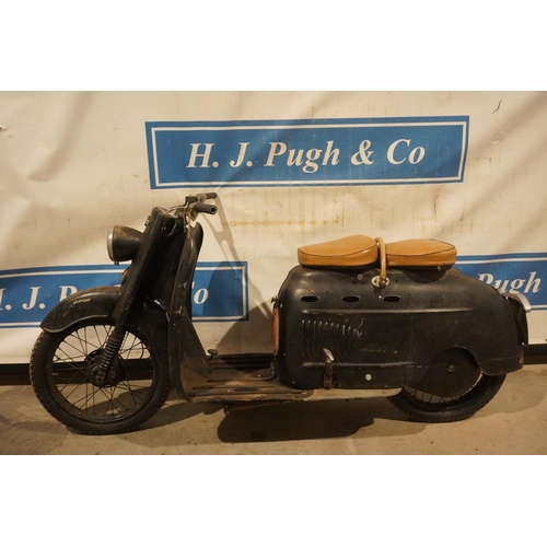 802 - Manurhin 75cc scooter. 1955. Frame no. 001804. Complete with dating certificate from British Lambret...
