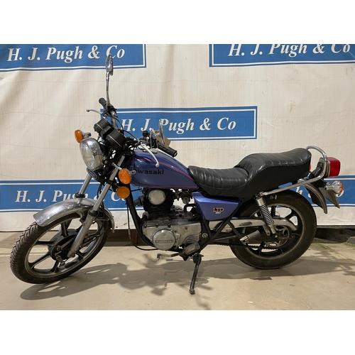 803 - Kawasaki KZ250 motorcycle. 1980. 246cc. Frame No-KZ250G-002984. Mot until 26.08.2021. Low mile machi...