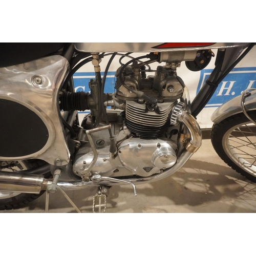806 - Triumph Faber motorcycle. 1969. Engine overhauled, wheels rebuilt with alloy rims, new battery, and ...