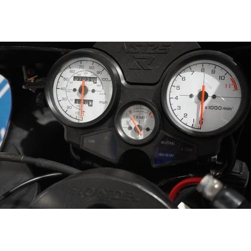 818 - Honda NS 125 R-L motorcycle. 1992. 7038miles. MOT April 2022. Genuine 2 stroke motorcycle. Reg. K794...