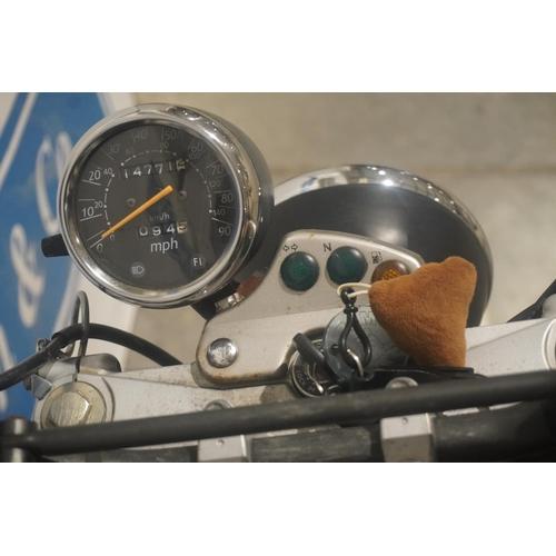 822 - Suzuki VanVan 125 motorcycle. 2010. c/w top box, spare key, full history. Reg. YT60 FRV. V5, key