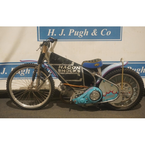 828 - Jawa 500 speedway bike. Good compression. Out of a private collection. No ignition box, no docs