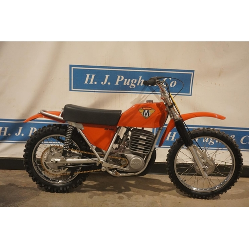 835 - Maico MC400 motorcycle. 1973. Recently restored. All bearings, seals, piston, crank have all been re...