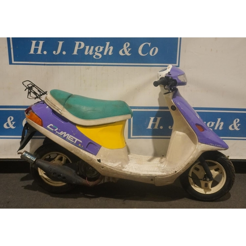 843 - Piaggio Comet moped. Barn find. Engine turns over. No docs