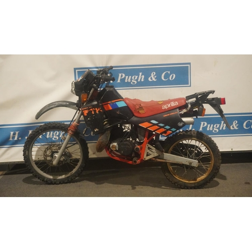 845 - Aprilia ETX 125 motorcycle. 1988. Italian import. This bike has been derestricted c/w NOVA document