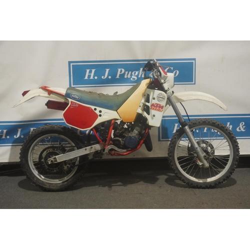 846 - KTM GS125 Enduro motorcycle. 1987. No casings c/w NOVA document
