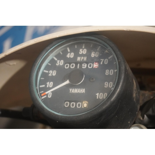 847 - Yamaha TT350 motorcycle. 1986. Matching engine and frame numbers. Ridden for 1 season, very original...