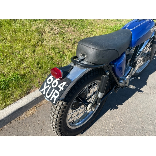 823 - BSA C15G motorcycle. 1958. Engine rebuilt NOS S cam, new chain and sprockets, alloy rims, NOS rear s...