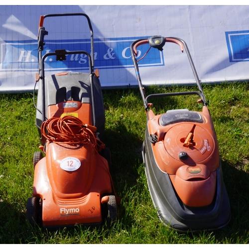 12 - 2 Electric mowers