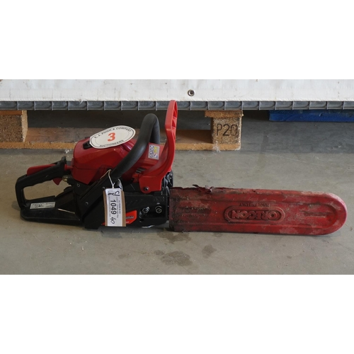3 - Mountfield MC3720 petrol chainsaw+VAT