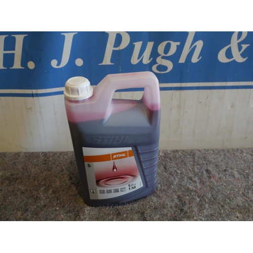 9B - Stihl 5l 2 stroke oil +VAT