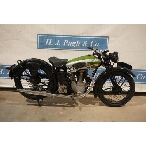809 - BSA KB21 250 OHV motorcycle. 1939. 250cc. Reg. OXS 352 c/w Lots of paperwork, MOT till 8/4/22, V5, k...
