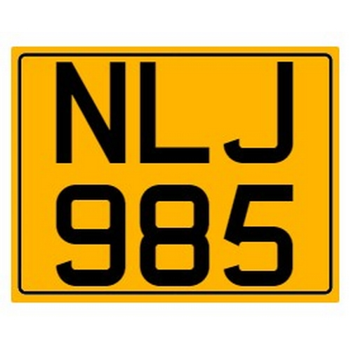 790 - Cherished number plate on retention Reg. NLJ 985 Photograph for illustration purposes only