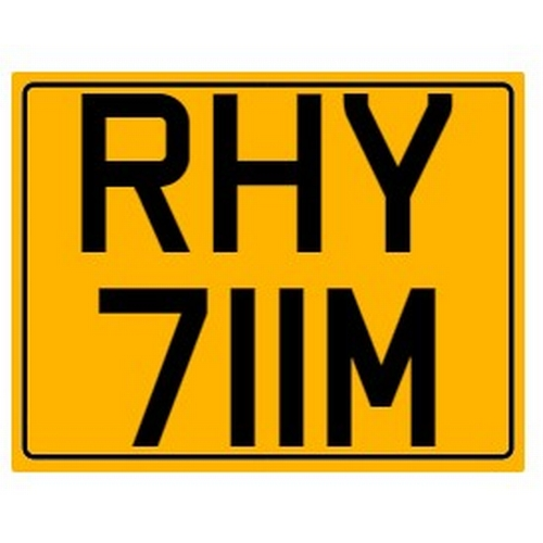 793 - Cherished number plate on retention Reg. RHY 711M Photograph for illustration purposes only