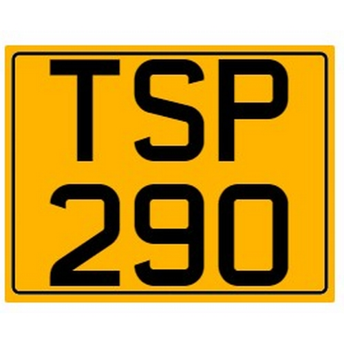 796 - Cherished number plate on retention Reg. TSP 290 Photograph for illustration purposes only