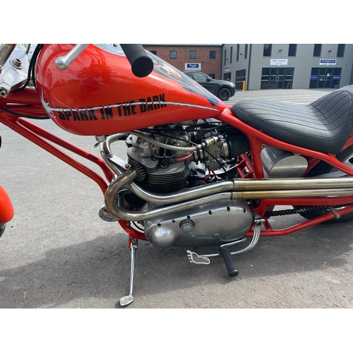 814 - BSA A10 bobber style motorcycle. 1959. 703cc. Engine No-CA102355. Tidy motorcycle. Well restored. C/...