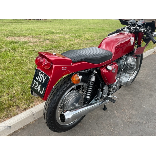 838 - Honda K1 CB750 Dunstall motorcycle. 1971. Been in a museum in Finland all its life. Vendor says it r...