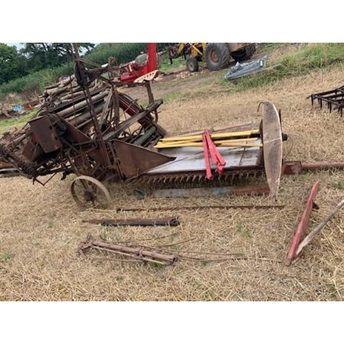 53 - Massey Harris sunshine binder, part dismantled