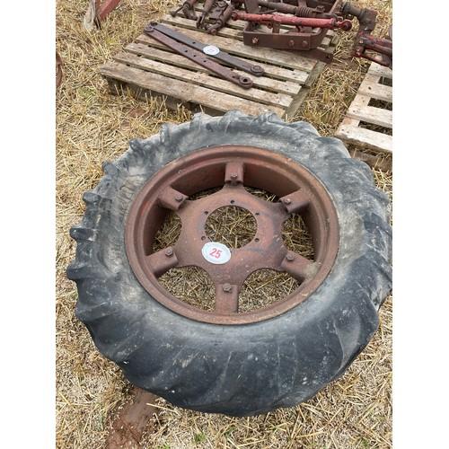 25 - David Brown rear wheel & tyre